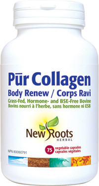 New Roots Pur Collagen Body Renew, 75 Capsules | NutriFarm.ca