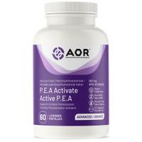 AOR P.E.A. Activate 600 mg, 60 Capsules | NutriFarm.ca