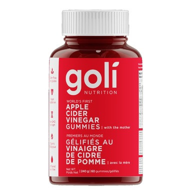 Goli Apple Cider Vinegar Gummy, 60 gummies | NutriFarm.ca