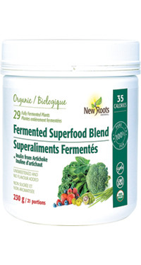 New Roots Fermented Superfood Blend, 230 g | NutriFarm.ca