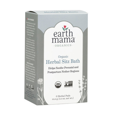 Earth Mama Organic Herbal Sitz Bath, 6 herbal pads | NutriFarm.ca