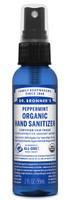 Dr. Bronner's Organic Peppermint Hand Sanitizer, 59 ml | NutriFarm.ca