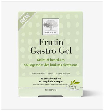 New Nordic Frutin Gastro Gel, 48 chewable tablets   NutriFarm.ca