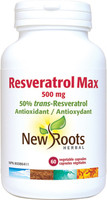 New Roots Resveratrol Max, 60 Vegetable Capsules | NutriFarm.ca