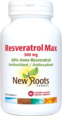 New Roots Resveratrol Max, 60 Vegetable Capsules | NutriFarm.ca