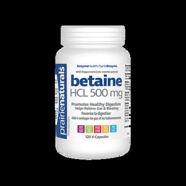 Prairie Naturals Betaine HCL, 120 Vcaps   NutriFarm.ca