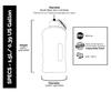 The Big Bottle Frosted Aqua, 1.5 L | NutriFarm.ca