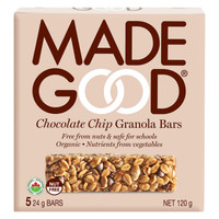 MADEGOOD Chocolate Chip Granola Bar, 1 box (5 bars) | NutriFarm.ca