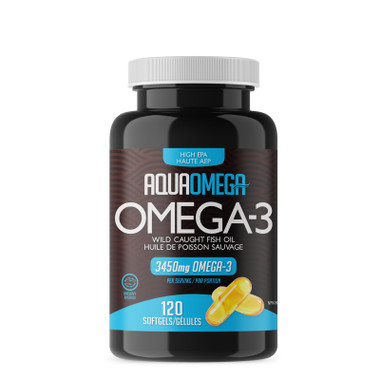 AquaOmega HIGH EPA OMEGA-3, 120 softgels | NutriFarm.ca