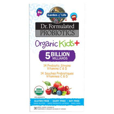 Garden of Life Organic Kids chewable probiotics, 30 tablets | NutriFarm.ca