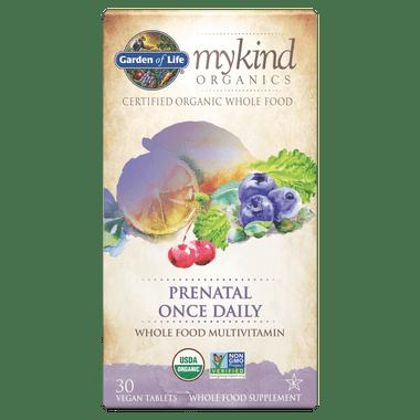 Garden of Life Mykind Organics Prenatal Once Daily, 30 Caps   NutriFarm.ca