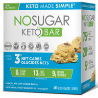 No Sugar Company Keto Chocolate Chip Cookies 40 g, 12 bars | NutriFarm.ca