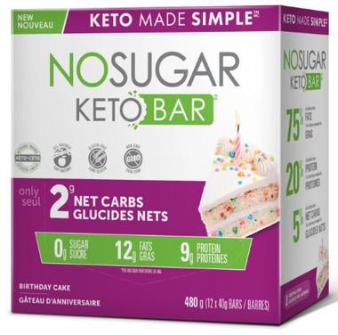 No Sugar Company Keto Birthday Cake 40 g, 40 bars | NutriFarm.ca