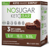 No Sugar Company Keto Chocolate Fudge Brownie 40 g, 12 bars | NutriFarm.ca