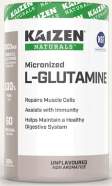 Kaizen Micronized L-Glutamine, 300 g | NutriFarm.ca