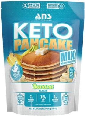 ANS Performance Pancake Mix Banana, 454 g | NutriFarm.ca