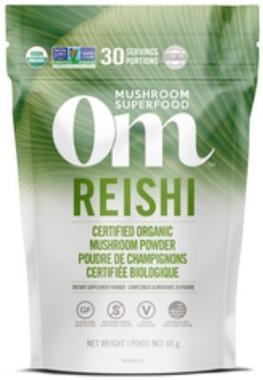 OM Mushroom Reishi Powder, 60 g   NutriFarm.ca