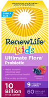 Renew Life Ultimate Flora Kids Probiotic 10 Billion, 60 Chewable Tablets | NutriFarm.ca