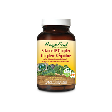 MegaFood Balanced B complex, 72 tablets | NutriFarm.ca
