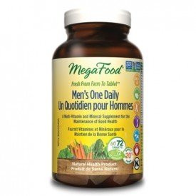 MegaFood Men's One Daily, 72 tablets | NutriFarm.ca