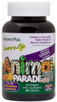 Natures Plus Animal Parade Sugar Free Multivitamins Grape, 90 Chewable tablets | NutriFarm.ca