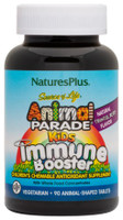 Natures Plus Animal Parade Kids Immune BoosterTropical Berry, 90 Chewable Tablets | NutriFarm.ca