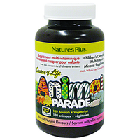 Nature Plus Animal Parade Child Multivitamin Assorted Flavour, 180 Tablets | NutriFarm.ca