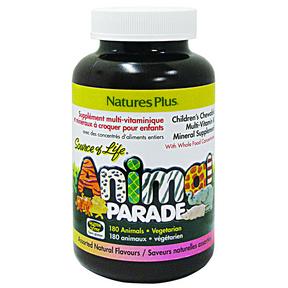 Nature Plus Animal Parade Child Multivitamin Assorted Flavour, 180 Tablets | NutriFarm.ca