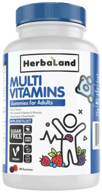 Herbaland Adults Multivitamins Gummies, 90 Gummies | NutriFarm.ca
