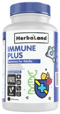 Herbaland Adult Immune Plus Gummies, 90 Gummies | NutriFarm.ca