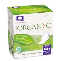 Organyc Pads Heavy Flow with Wings (Folded), 10 units | NutriFarm.ca