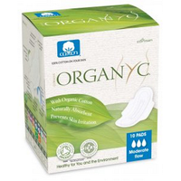 Organyc Pads with Wings (Moderate Flow), 10 units | NutriFarm.ca