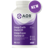 AOR Omega 3 with Vitamin D3, 180 softgels | NutriFarm.ca