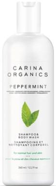 Carina Organics Peppermint Shampoo and Bodywash, 360 ml | NutriFarm.ca