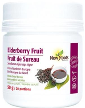 New Roots Elderberry Fruit, 50 g | NutriFarm.ca