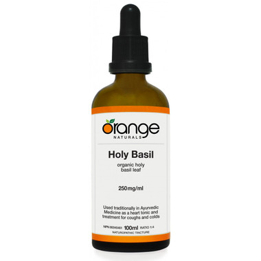Orange Naturals Holy Basil Tincture, 100 ml   NutriFarm.ca