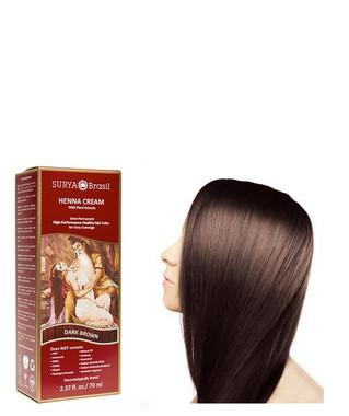 Surya Brasil Henna Cream Dark Brown, 70 ml | NutriFarm.ca