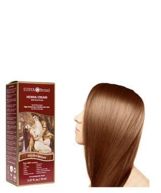 Surya Brasil Henna Cream Golden Brown, 70 ml | NutriFarm.ca