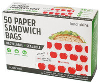 Lunchskins Sandwich bags (Apple), 50 count | NutriFarm.ca