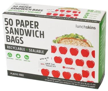 Lunchskins Sandwich bags (Apple), 50 count | NutriFarm.ca