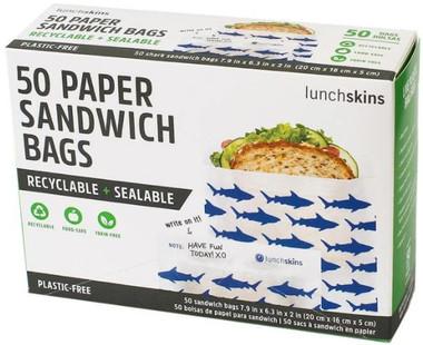 Lunchskins Sandwich bags (shark), 50 count | NutriFarm.ca
