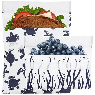Lunchskins Reusable Bag Set (turtle velcro) | NutriFarm.ca