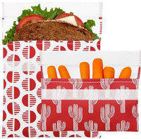 Lunchskins Reusable Bag Set (velvet desert) | NutriFarm.ca