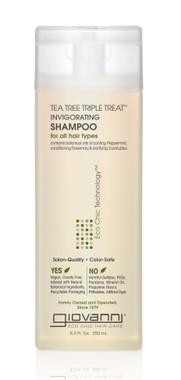 Giovanni Cosmetics Tea Tree Triple Treat Shampoo, 250 ml   NutriFarm.ca