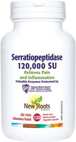 New Roots Serratiopeptidase 120,000 SU, 120 Capsules | NutriFarm.ca