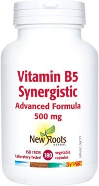 New Roots Vitamin B5 Synergistic, 180 Vegetable Capsules | NutriFarm.ca