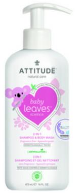 Attitude 2 in 1 Shampoo Fragrance Free, 473 ml | NutriFarm.ca