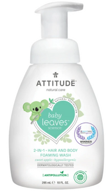 Attitude 2 in 1 Hair and Body Foaming Wash Sweet apple, 295 ml | NutriFarm.ca