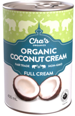 Cha's Organics Premium Coconut Cream, 400 ml | NutriFarm.ca