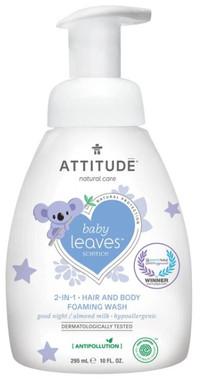 Attitude 2 in 1 Hair and Body Foaming Wash, 295 ml | NutriFarm.ca